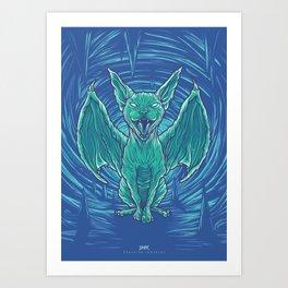 Lovely Dark Creatures series - Hiems Art Print