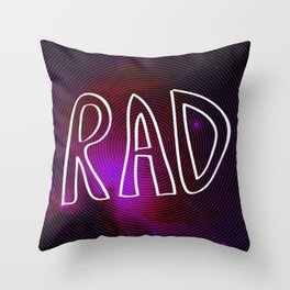 Rad Galaxy Throw Pillow