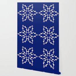 Snowflake on Blue Wallpaper