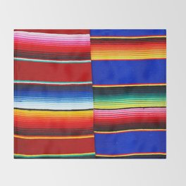 Colorful serape stripes Throw Blanket