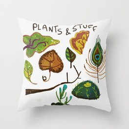 Plants and stuff Throw Pillow