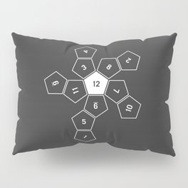 Grey Unrolled D12 Pillow Sham