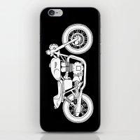 cafe racer iPhone & iPod Skins featuring Triumph Bonneville - Cafe Racer series #3 by Daniel Feldt
