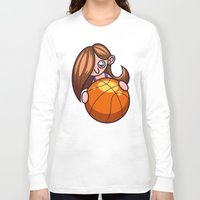 basketball Long Sleeve T-shirts featuring Basketball Player by Artistic Dyslexia