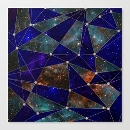 Stars Connections Canvas Print