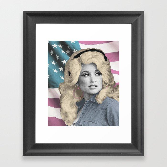 Americana Dolly Gerahmter Kunstdruck