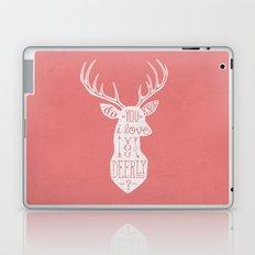 I LOVE YOU DEER - PINK Laptop & iPad Skin