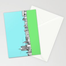 sketchy town Stationery Cards