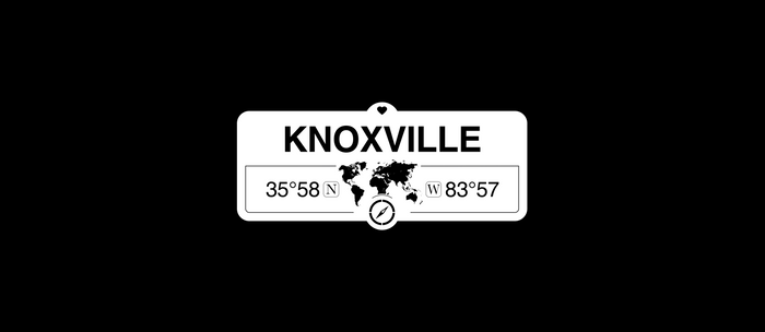 Knoxville Tennessee Map GPS Coordinates Artwork with Compass Coffee Mug