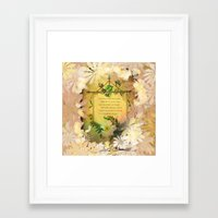 poem Framed Art Prints featuring Love Poem by Lucia