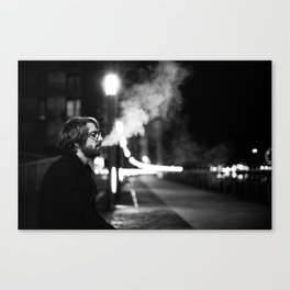 Smoking by the Clyde Canvas Print