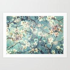 Sparkling cherry blossom tree Art Print