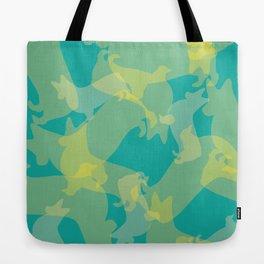Blue & Yellow Corgi Pattern Tote Bag