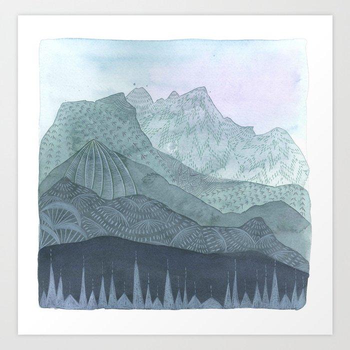 Living as the Mountains Do Art Print