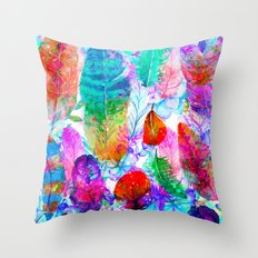Spring feathers ii Throw Pillow