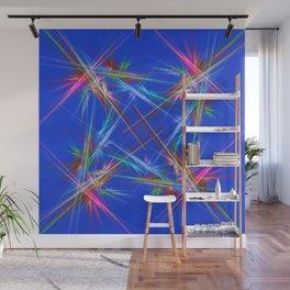 Fractal laser show Wall Mural