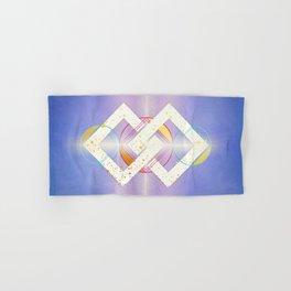 Linked Lilac Diamonds :: Floating Geometry Hand & Bath Towel