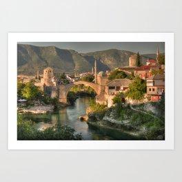 The Old Bridge of Mostar Art Print