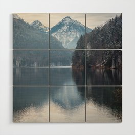 Beautiful lake, Bavarian alps Wood Wall Art