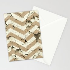 Peeling Chevrons Taupe Stationery Cards