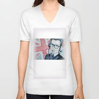 union jack V-neck T-shirts featuring UNION JACK by Vin Zzep