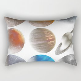The Nine Planets Rectangular Pillow