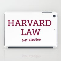 law iPad Cases featuring Harvard Law by Trend