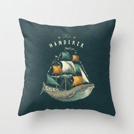 Whale | Petrol Grey Throw Pillow