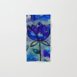 Abstract - Lotus flower - Intuitive Hand & Bath Towel