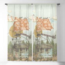 CABIN DOG Sheer Curtain