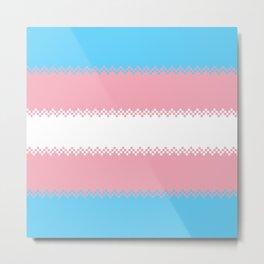 pixel pride- trans pride flag Metal Print