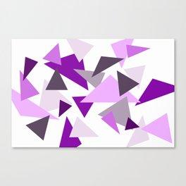 Triangel Design purple violet pink Canvas Print