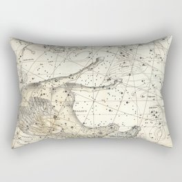 Pegasus Constellation Celestial Atlas Plate 12, Alexander Jamieson Rectangular Pillow