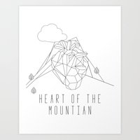 Heart of The Mountain Art Print