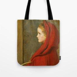 "John Everett Millais ""Red Riding Hood (A Portrait of Effie Millais, the artist's daughter)"" Tote Bag"
