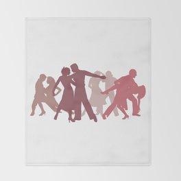 Latin Dancers Illustration Throw Blanket