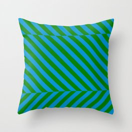 Abstraction_LINES_ILLUSION_02 Throw Pillow