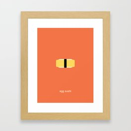 egg sushi Framed Art Print