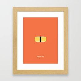 egg sushi Framed Art Print