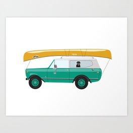 Go Canoeing Art Print