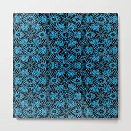 Black and Blue String Art 4406 Metal Print