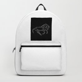 Black horse Backpack