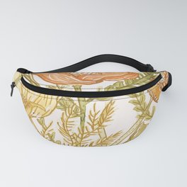 Pastel Poppies Fanny Pack