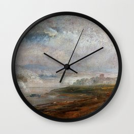 Johan Christian Dahl - The Elbe On A Foggy Morning - Digital Remastered Edition Wall Clock