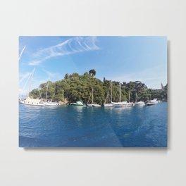 Sail Island Metal Print