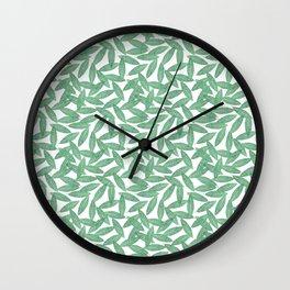 Laurel leaves pattern Wall Clock