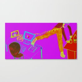 Multitask at the office Canvas Print