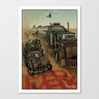 mad max Canvas Prints featuring Mad Max  by ZIMZONOWICZ