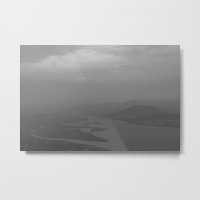 Black and white light and shadow VlI Metal Print