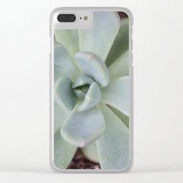 Succulent Love Clear iPhone Case